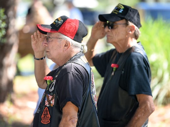 U.S. Army and Vietnam veterans Mike Mazzone (left)