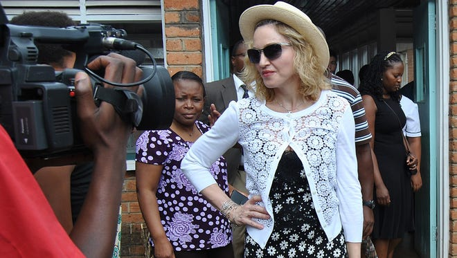 Madonna is in Malawi visiting  the Queen Elizabeth Central Hospital  in Blantyre where she launched a new project to construct a pediatric surgery and intensive care unit.