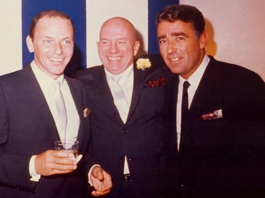 Frank Sinatra (from left), Jimmy Van Heusen and Peter Lawford.