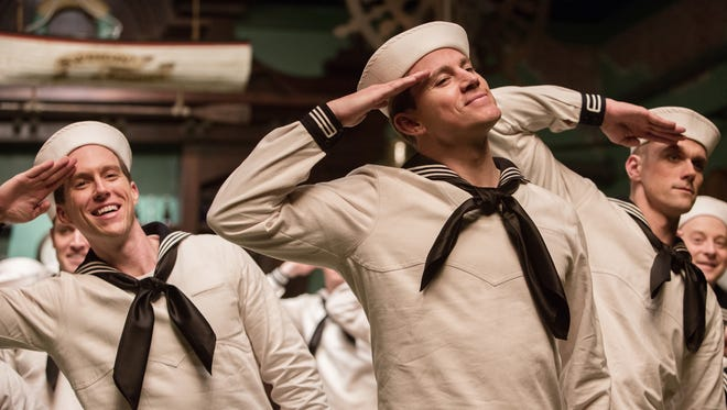 "Channing Tatum in a song and dance number from ""Hail, Caesar!."""