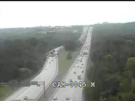Crash on Interstate 64 eastbound, near Blankenbaker
