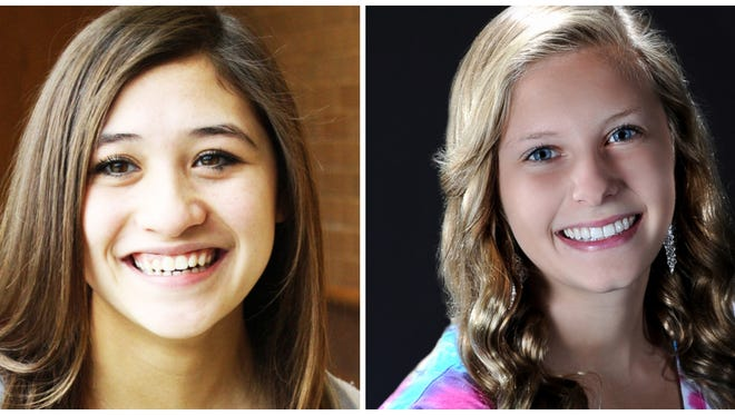 Freyja Garbaccio (left) and Abby Johnstone (right) were named the swimmer and diver of the year by the LSJ sports team.