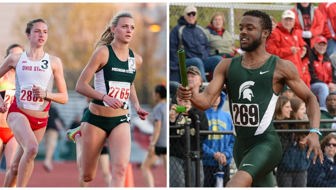Leah O'Connor and DeVantre Whitelow are two of the favored Spartans at this weekend's Big Ten Track and Field Outdoor Championships, hosted by MSU.