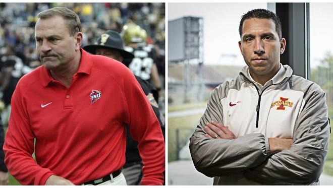 Former Iowa State head football coach Dan McCarney and current ISU head coach Matt Campbell.
