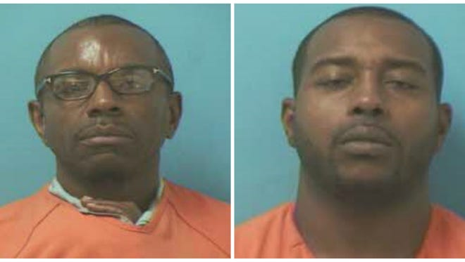 Timothy Holder, left, 50, of Nashville and Ronnie McWhorter, 33, of Louisville were arrested last week by Franklin Police.