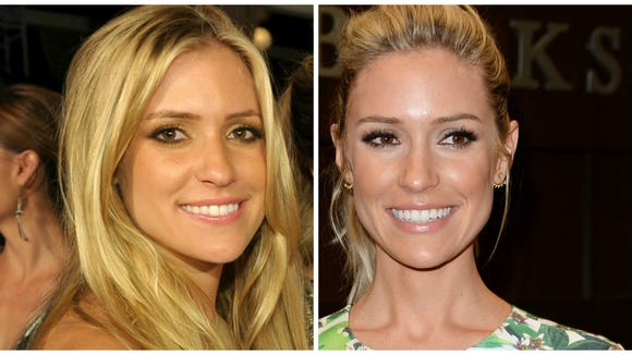 """Kristin at """"The Hills"""" finale in 2010 (left)."""