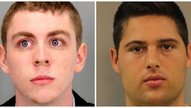 Brock Turner, left, and Brandon Vandenburg