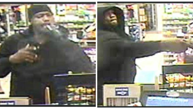 Indianapolis police are looking for a suspect who they say shot a gas station clerk in the back during an attempted robbery in the early morning of Sept. 23.