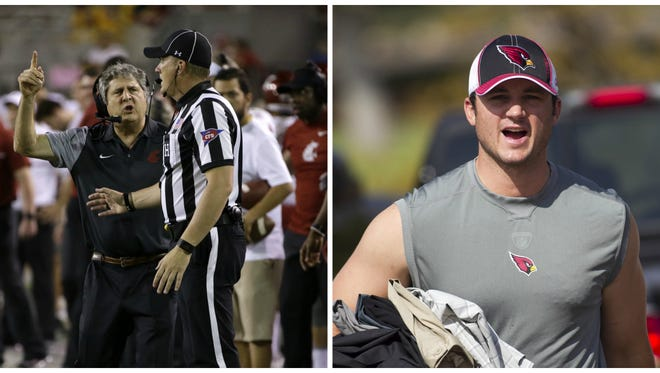 Washington State's coach and a former long snapper for the Cardinals share a name. They don't share a Twitter account.
