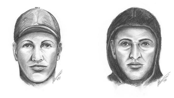 The Tennessee Bureau of Investigation released these sketches of two men suspected of robbing a Gallatin market last month.