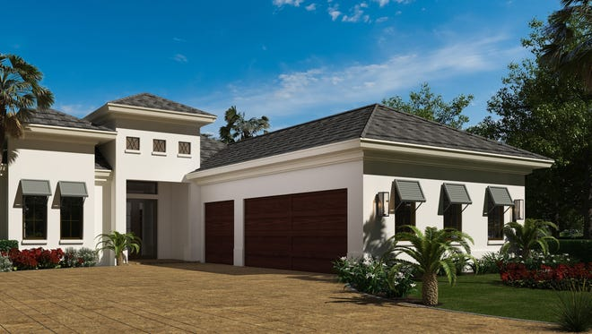 Harbourside Custom Homes' Villa Adriana III residence in Corsica at Talis Park.