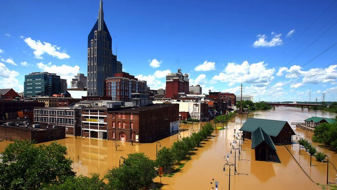 Twenty-six people died from flooding in 2010 in Tennessee and Kentucky, including 11 in Nashville.
