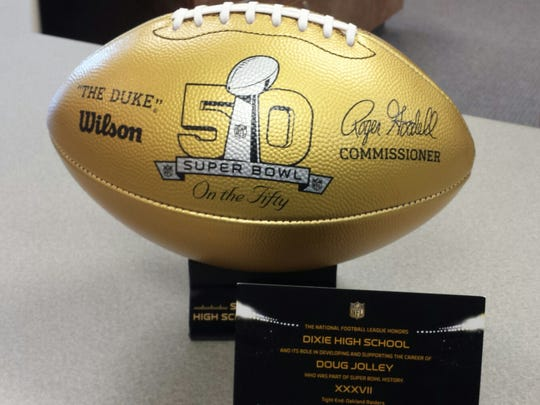 Dixie High School joined an elite group of schools after the NFL delivered a gift in honor of Super Bowl 50.
