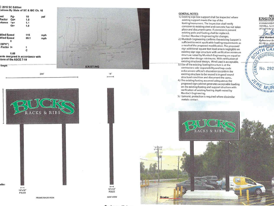 Bucks Racks and Ribs submitted these engineering specs