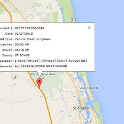 According to the Florida Highway Patrol all northbound