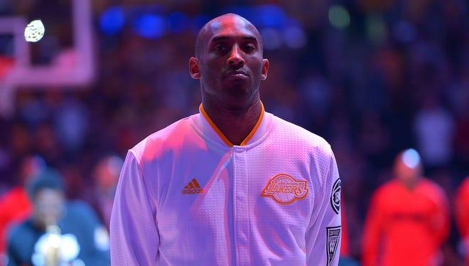 Los Angeles Lakers forward Kobe Bryant (24) says this will be his last season.