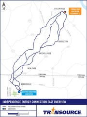 Many of the study segments initially presented have been removed and Transource is soliciting input on the refined preliminary alternative routes, shown here, prior to determining a proposed route to file with state regulators.