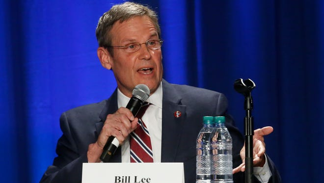 Tennessee Governor candidate Bill Lee (R) answers questions during the Gubernatorial Candidates' Forum on health care Tuesday, Feb. 27, 2018, at Trevecca Nazerene University.