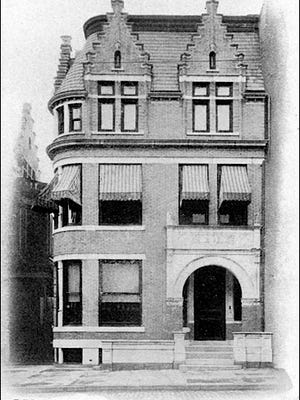 1904 Photo of Milton D. Martin residence at 145 E. Market St., York, PA (Submitted from Collections of Jay Kohler, YORK by Shelden Company, Inc., Philadelphia, PA, 1904)