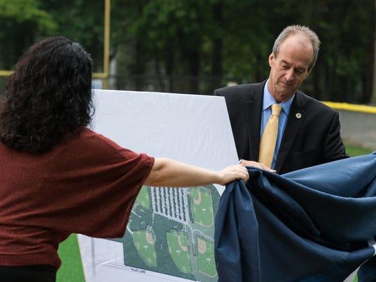 Wicomico County Executive, Bob Culver, unveils a rendering