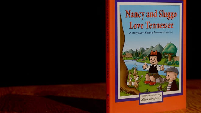 """""""Nancy and Sluggo Love Tennessee"""" is a book written and illustrated by Guy Gilchrist, about keeping Tennessee beautiful."""