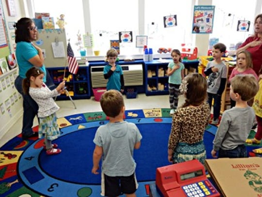 The children in lead teacher Belinda Churchill's voluntary prekindergarten class at St. Christopher's Children's Center in Pensacola have their academics woven into their lessons and their fun throughout the day to help them prepare for kindergarten.
