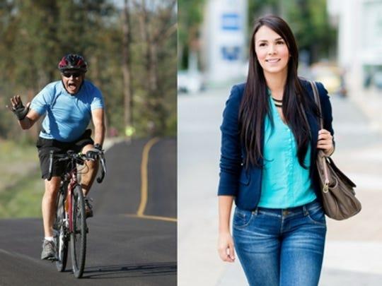 Biking and walking to work guarantees exercise 5 days/week