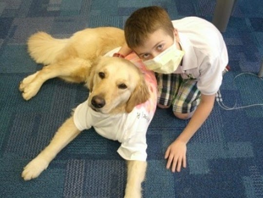 Michael Rhone formed a special bond with facility dog