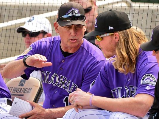 USP MLB: SPRING TRAINING-MILWAUKEE BREWERS AT COLO S BBN USA AZ