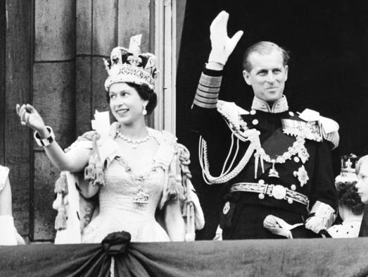 The coronation culminates in the traditional Buckingham