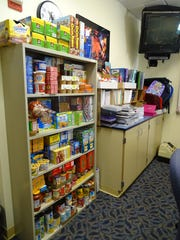 Food and school supplies are available for free to students and families at the Adena School store.