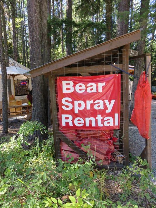 1 Bear spray rental sign