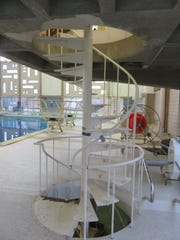 The Student Aquatic Center features a spiral staircase