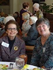 Jerelyn McLendon and Judy Willis at P.E.O. Founders'