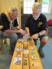 Luis Pi-Sunyer of Montclair peruses the Boy Scout memorabilia