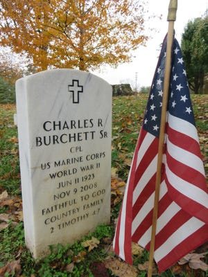 Among the graves at East Tennessee Veterans Cemetery off Lyons View Pike is that of World War II veteran Charles Burchett, father of County Mayor Tim Burchett.