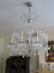 This chandelier dates back decades.