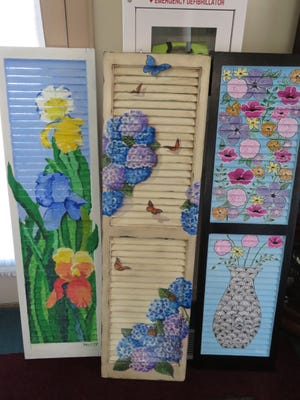 Some of the shutters that were up for bid.