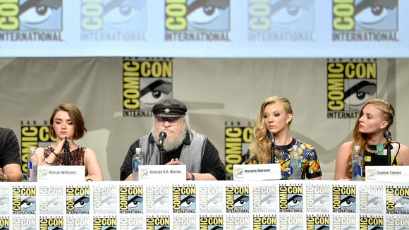 The 'Game of Thrones' cast at Comic-Con.