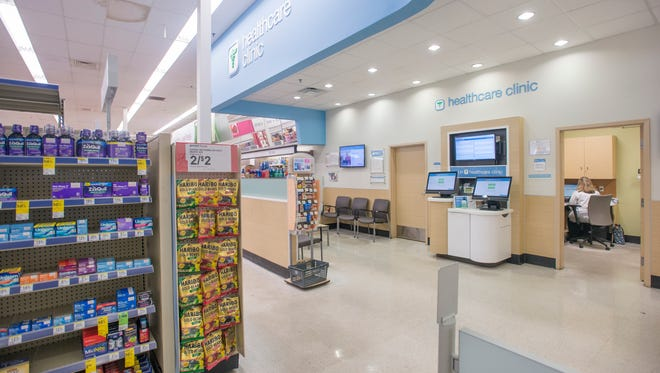 Nurse practitioner, Sally Benyahia works at the Healthcare Clinic at Walgreens on North Ninth Avenue in Pensacola on Monday, Jan. 9, 2017. This is one of four Walgreens clinics that will be operated by Sacred Heart Health System in Escambia and Santa Rosa counties.