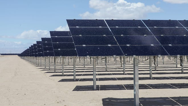 The Tenaska Imperial Solar Energy Center West near El Centro, in California's Imperial County.
