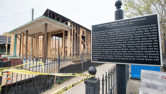 The General Chappie James Museum, which is funded by Community Development Agency funds, is under construction on North Martin Luther King Blvd. in Pensacola on Friday, March 24, 2017.