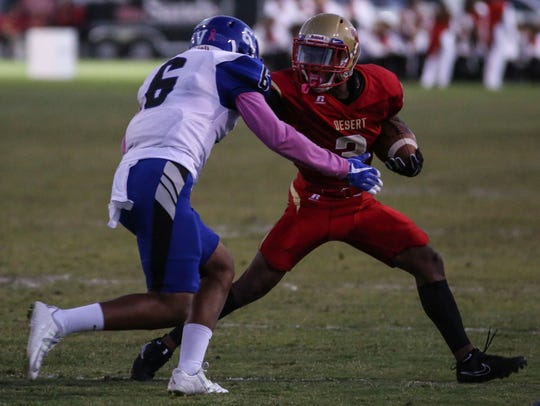 College of the Desert's Franklin Miller carries the