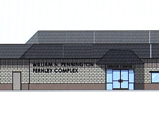 A rendering of the new senior center in Fernley.