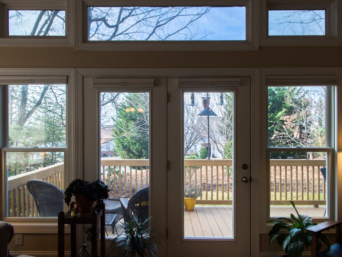 A view of the back patio at Steve and Jeanne Jones'