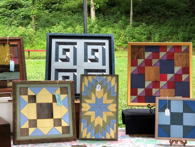 Many of Don Grogan's Scrap Wood Quilts look three-dimensional.