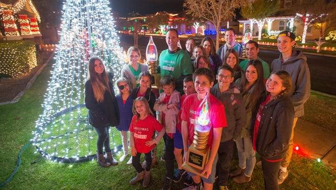 """A neighborhood on Comstock Dr. in Gilbert won ABC's """"The Great Christmas Light Fight"""" Dec. 14, 2015."""