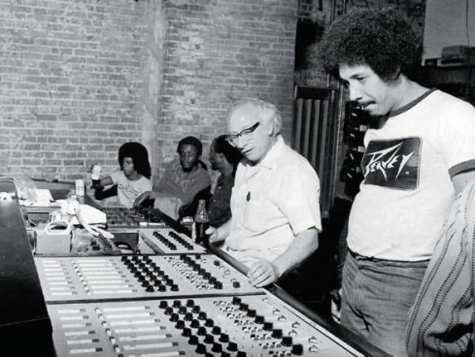 Cosimo Matassa in the recording studio with local artists.