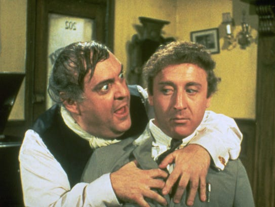 Zero Mostel and Gene Wilder are theater producers with a sure-fail plan in 'The Producers.'