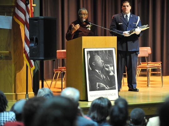 Wendy Gardner was Entertainer of the Year award recipient Monday at the annual Dr. Martin Luther King Jr. breakfast program at Vineland High School.